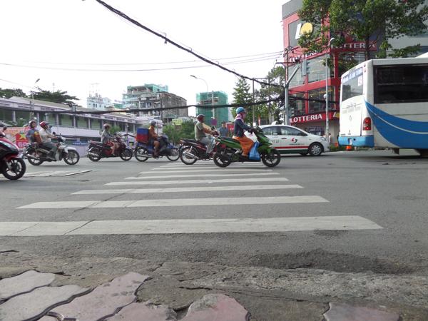 Saigon pedestrian lane