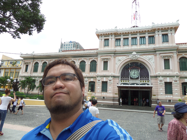 Ethan at Central Post Office in Saigon