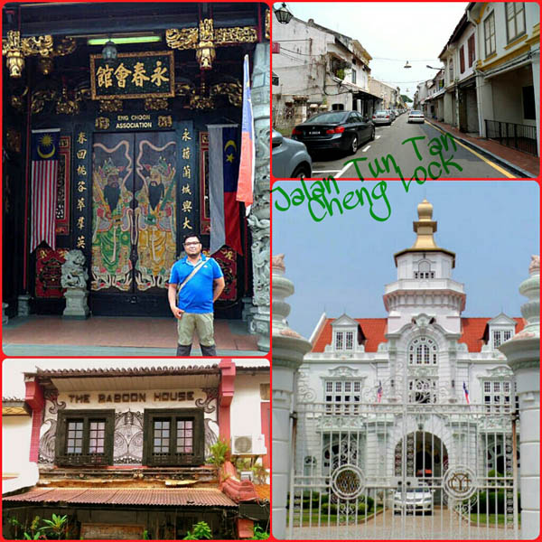 Heritage buildings and other sights on Jalan Tun Tan Cheng Lock, Melaka