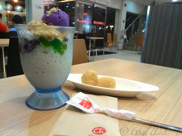 Halo halo and buchi from Chowking