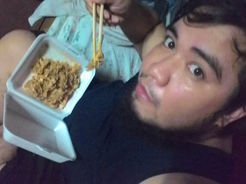 eating Pad Thai from Mae Krua in Cebu