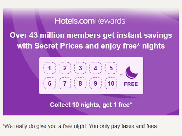 Hotels.com 10-Night Rewards