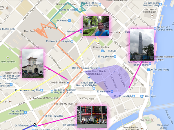 Saigon Diary: Walking map from Bui Vien to Independence Palace