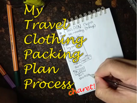 """cover photo for vlog titled """"My Travel Clothing Packing Plan Process"""""""